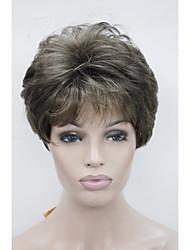 nouvelles couleurs rm73 perruques femmes brun mix droite courte perruque de cheveux synthétiques perruque complète