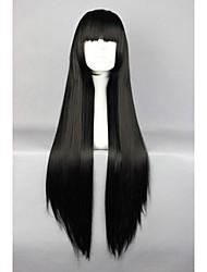 Sintentička kosa perika Klasik Ravan kroj Visoka kvaliteta Dnevno