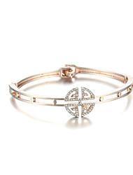 Sjewelry Girls Latest Style White Stone Plating rose Gold Bracelet