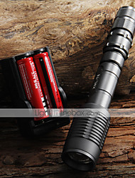 UltraFire LED Flashlights / Torch LED 2000 lm 5 Mode Cree XM-L T6 with Batteries and Charger Zoomable Adjustable Focus