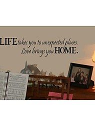 cheap -Life Takes You To Unexpected Places Quote Wall Decorative ZY8081  Adesivo De Parede Removable Vinyl Wall Stickers