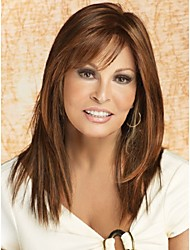 cheap -2015 Synthetic Hair Brown mix Wig For Women with Bangs Supernova Sale