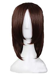 abordables -Partido peluca - Rectos - Negro Sintético - para De Hombres
