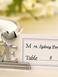 Zinc Alloy Place Cards Place Card Holders Table Number Cards 4 Standing Style Poly Bag