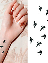 cheap -Bird Free to Fly in Sky Tattoo Stickers Temporary Tattoos(1 Pc)