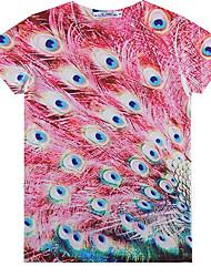 baratos -Homens Camiseta Clássico Côr Pura,Art Deco