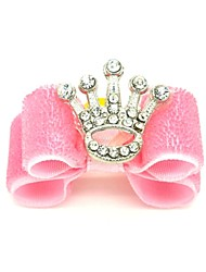 cheap -Cat Dog Hair Accessories Hair Bow Dog Clothes Birthday Holiday Tiaras & Crowns Pink Costume For Pets