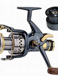 cheap -Fishing Reel Carp Fishing Reels 5.2:1 Gear Ratio+10 Ball Bearings Exchangable Sea Fishing Spinning Freshwater Fishing Trolling & Boat
