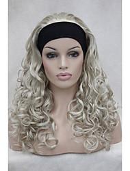 """nuovo 3/4 parrucca con 24 fascia """"parrucche mezze donne lunghe ricce ab102"""