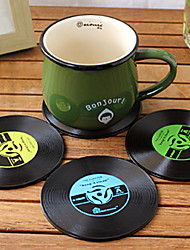 cheap -Vintage Vinyl Coaster Groovy CD Record Table Bar Drinks Cup Mat 1Pc (Ramdon Color)