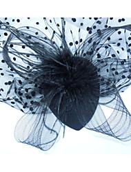 женщины черная точка перо старинные / милый / партии / работа / случайных кружева зажим для волос