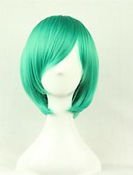 economico -Parrucche sintetiche / Parrucche per travestimenti Liscio Taglio asimmetrico Capelli sintetici Attaccatura dei capelli naturale Verde Parrucca Per donna Corto Senza tappo Verde