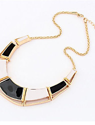 cheap -Women's Choker Necklace - Personalized, European Black, Orange, Light Blue Necklace Jewelry For