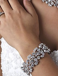 cheap -Luxurious Diamond/Rhinestone Aolly Silver Bracelet For Women Lades Bridal Birthday GIft Party Beach Wedding Dance
