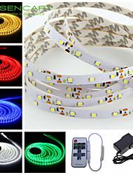 baratos -SENCART 5m Faixas de Luzes LED Flexíveis 300 LEDs Branco Quente / RGB / Branco Cortável / Regulável / Conetável 100-240V / 12V / 3528 SMD