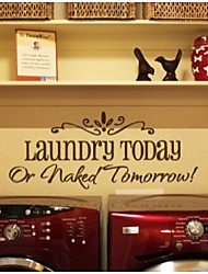 cheap -Laundry Today Quote Wall Decals 8032 Decorative Adesivo De Parede Removable Vinyl Wall Stickers