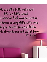We Are All a Little Weird Home Decoration Quote Wall Decals Zooyoo8076 Wall Decor Removable Vinyl Wall Stickers