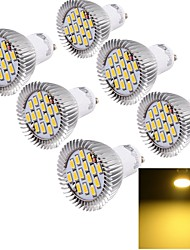 cheap -6W GU10 LED Spotlight 15 SMD 5630 450-500 lm Warm White 3000 K Decorative AC 85-265 V