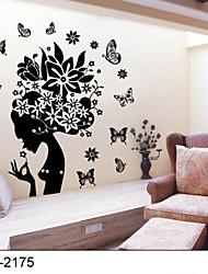 Botânico Desenho Animado Paisagem Pessoas Adesivos de Parede Autocolantes de Aviões para Parede Autocolantes de Parede Decorativos