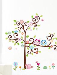 stickers murali gufo autoadesivi della parete della decalcomania della parete del fumetto animale diy arti parete albero zooyoo1001