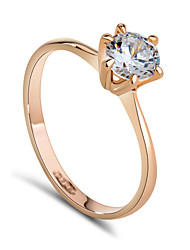 cheap -Women's Crystal Cubic Zirconia Imitation Diamond Statement Ring - Classic Ring For Wedding Party Daily Casual
