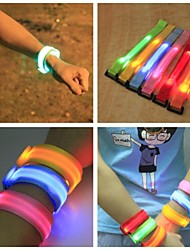 Reflective Band Safety Reflectors Night Vision for Everyday Use-Yellow Red Green Blue Pink