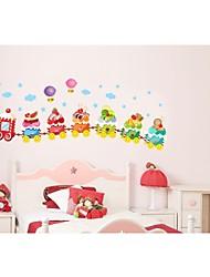 glace train crème pour le mur de la chambre des enfants autocollant décoratif zooyoo769 autocollant amovible mur de pvc