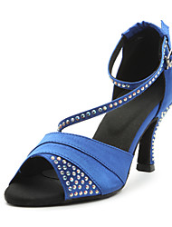 "Scarpe da ballo - Disponibile ""su misura"" - Donna - Latinoamericano - Customized Heel - Satin - Blu / Viola"