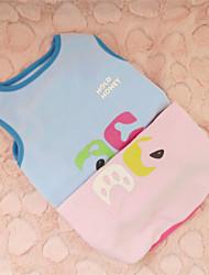 Hund T-shirt Hundetøj Tegneserier Lys pink Lyseblå Kostume For kæledyr