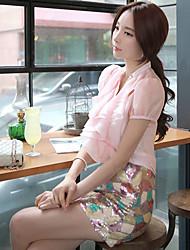 bodycon / casual / partido mini-saias das doll®women meio-de-rosa