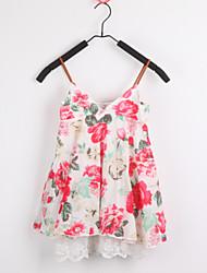 cheap -Kid's Vintage/Print/Cute Dresses (Cotton/Linen)