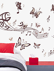 cheap -Animals Music Cartoon Wall Stickers Animal Wall Stickers Decorative Wall Stickers, Vinyl Home Decoration Wall Decal Wall Decoration