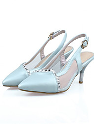 cheap -Girls' Shoes Casual Heels  Sandals Blue/Pink/White Gifts (insoles, laces, shoe, socks, color stone, imitation pearls