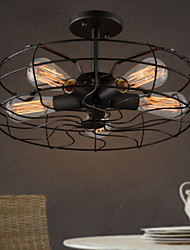 cheap -The American Country Industrial Designer Lamp Personalized Restaurant Balcony Lamp European Retro Fan Ceiling Lamps
