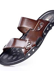 Sandaler-Læder-Slingback Sko-Herrer--Fritid-Flad hæl