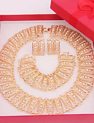Недорогие -Бижутерия-Ожерелья / Серьги / Кольца(Сплав / Стразы)Свадьба / Для вечеринок / Повседневные Свадебные подарки