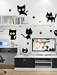 Environmental Removable  Cute Cat  PVC Tags & Sticker