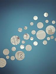 miroir stickers muraux stickers muraux, bricolage miroir cercle mur acrylique autocollants