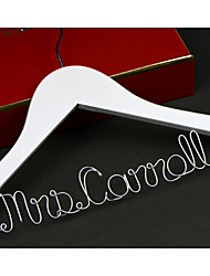 Personalized Wedding Dress Hanger, Custom Bridal Bridesmaid hanger, Wire Name Hanger Font B with no bow.