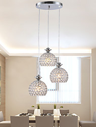 LED Light Bulb Crystal Pendant Modern Simple MD9907-3