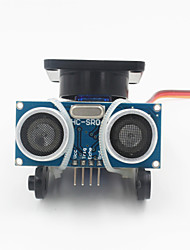 Недорогие -Ультразвуковой расстояние измерительный модуль датчика комплект ж / 9g сервопривод - черный