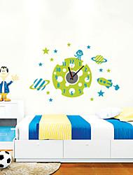abordables -Moderne/Contemporain Personnages Inspiré Mariage Famille Amis Dessin animé Horloge murale,Rond Nouveauté Plastique Autres
