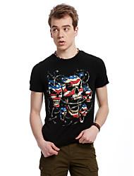 Informell/Business Rund - Kurzarm - MEN - T-Shirts ( Baumwolle/Strickware/Polyester )