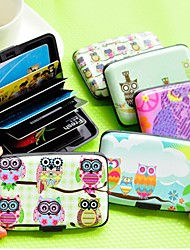 cheap -Lovely Owl Stylish Multi Color Card Holder
