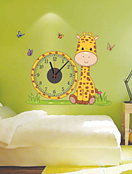 Modern Style DIY Fashion Creative Cute Cartoon Mute Wall Clock