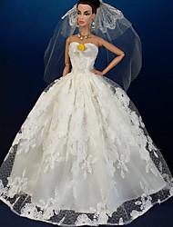 結婚式 ドレス ために バービー人形 ドレス ために 女の子の 人形玩具