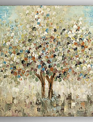 cheap -Oil Painting  Abstract Landscape Tree  Hand Painted Canvas with Stretched Framed Ready to Hang