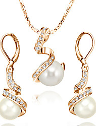 cheap -Women's Pearl / Crystal / Imitation Pearl Jewelry Set Earrings / Necklace - Jewelry Set For Wedding / Party / Daily
