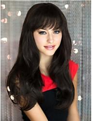 Недорогие -естественно клип в наращивания волос на синтетические челка бахромой для женщин