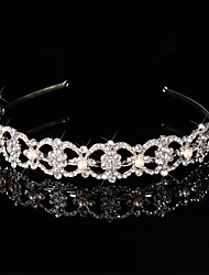 Bridal Crown Silver Tiara Queen Crystal/Diamond Hairclips Headpiece Peals Handmake For Wedding/Party